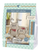 Go Handmade Laura 8cm & Andy 11cm The Rabbits Knitting Needlework Kit, All Parts & Materials Included!