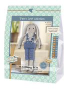 Go Handmade Luke 33cm & Buddy 5cm The Rabbits Knitting Needlework Kit, All Parts & Materials Included!