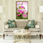 Mingo 5D DIY Diamond Painting Of Butterfly Flower Crystals Embroidery Needlework Cross Stitch For Wall Home Deor