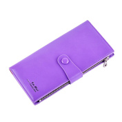 YiYiNoe PU Leather Clutch Wallet Blocking Trifold Card Holder Travel Purse Phone Package for Women Men