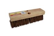 Janico 4210 Bristles Deck Scrub Brush with Palmyra Bristles, 25cm , Brown