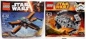 Lego Star Wars Poe's X-Wing Fighter & Lego Star Wars Tie Advanced Prototype set - lego First Order Polybag 30275 + 30278 Building Set