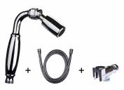 High Sierra's Solid Metal Handheld Shower Head Kit. Includes All Metal Handheld Shower Head, Hose, and Holder - WaterSense Certified Low Flow 1.8 GPM