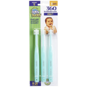 Baby Buddy 360 Toothbrush Step 1 Stage 5 for Babies/Toddlers , Kids Love Them, Green, 3 Count