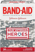 Band-Aid Decorative Adhesive Bandages, Our Veteran Heroes Assorted, 20 Count