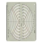No.6 31211 gong pass template E211 elliptical ruler for isometric (japan import) by Dorapasu