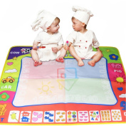 Educational Toy, ๑Robiear๑ Watercolour Doodle Children's Drawing Toys Mat Great Baby Gift (B