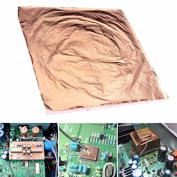 100pcs 14x14cm Copper Leaf Foil Wrapping Paper For Gilding Art Craft Work USA ##bollybelly