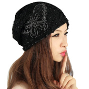 Beanie Hat,Canserin Women's Winter Lace Bowknot Beanie Hat Lady Skullies Turban Caps