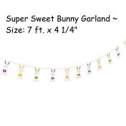 1 ~ Bunny Heart Garland ~ 2.1m x 11cm ~ New