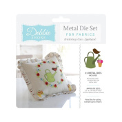 Debbie Shore Deep Dish Fabric Craft Watering Can Applique Metal Die Stencil Set