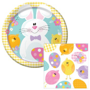 Easter Picnic Lunch Plates & Napkins Party Kit for 8