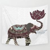 DueWork 150cm Large Square Lotus Flower Elephant Indian Mandala Ethnic Hippie Beach Towel Yoga Mat Tapestries Blanket Swimwear Cover Up