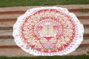 Indian Mandala Rasta Lion Roundie Tapestry- Tapestry Round- Picnic Round- Beach Blanket- Circle Beach Towel Yoga Mat Decor 180cm