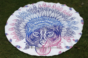 Exclusive- Indian Round Mandala African Tiger Tapestry Wall Hanging Throw Towel Boho Beach Yoga Mat Decor 180cm