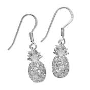 Sterling Silver Pineapple Dangle Earrings
