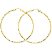 MCS Jewellery 14 Karat Yellow Gold Large Classic Hoop Earrings (Diameter