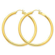 MCS Jewellery 14 Karat Yellow Gold Hoop Earrings (Diameter