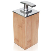 Deluxe Bamboo Soap and Lotion Pump Dispenser