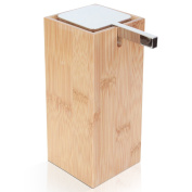 Deluxe Modern Bamboo Soap and Lotion Pump Dispenser.