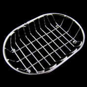 Oval Polished Stainless Steel Wire Soap Dishes Soap Tray Bathroom Organiser
