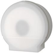 Palmer Fixture RD0026-03 Single Roll Jumbo Tissue Dispenser with 10cm Core, White Translucent