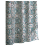 Ex-Cell Carthe Fabric Shower Curtain, 180cm by 180cm , Turquoise