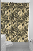Sourpuss Tattooed Old Timers Shower Curtain