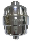 Emma Claire's Houseware 3-Stage Shower Filter - Chrome - High Output Universal Shower Filter with Replaceable Cartridge