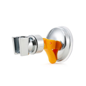 HOMEIDEAS Bathroom ABS Handheld Showerhead Bracket Holder with Suction Cup, Polished Chrome