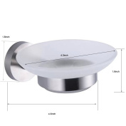 XVL Wall Mounted Stainless Steel Stainless Soap Holder, Brushed Nickel G502