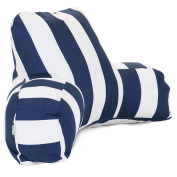 Majestic Home Goods Vertical Stripe Reading Pillow, Navy Blue