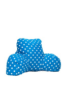 Majestic Home Goods Polka Dot Reading Pillow, Small, Blue
