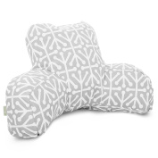 Majestic Home Goods Aruba Reading Pillow, Grey