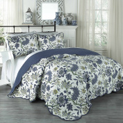Traditions by Waverly Maldives King 3-Piece Quilt Collection, Porcelain