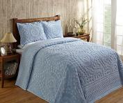Better Trends / Pan Overseas 300cm x 280cm Rio Bedspread, King, Blue