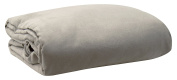 LCM Home Fashions Micro Suede Futon Cover, Twin, Grey