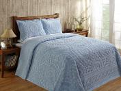 Better Trends / Pan Overseas 210cm x 280cm Rio Bedspread, Twin, Blue