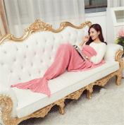 "XHSP Knitting Mermaid Tail Blanket Soft Blanket for Adult All Seasons Sleeping Blankets 195x95cm/78""x38"""