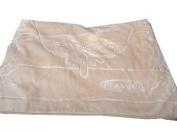 Solaron Classic Beige Korean Thick Mink Plush Embossed Queen Size Blanket