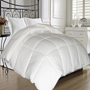 Microfiber Natural Feather Down Fibre Blend Comforter - King