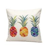 Katara Decor - Colourful Pineapple Throw Pillow Case Cover 46cm x 46cm