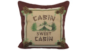 Brentwood Originals 8484 Cabin Sweet Tapestry Pillow, 46cm