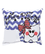 Purple Chevron Tooth Fairy Pillow with Tooth Fairy Dust