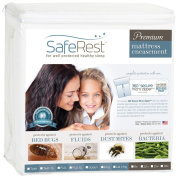 SafeRest Premium Zippered Mattress Encasement - Lab Tested Bed Bug Proof, Dust Mite Proof and Waterproof - Breathable, Noiseless and Vinyl Free (Fits 15cm - 23cm . H) - Full XL Size