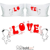 "BOLDLOFT ""Bubbling with Love for You"" Couple Pillowcases-Valentines Day Gifts for Him for Her,Valentines Day Gifts for Girlfriend Boyfriend,Cute Couple Gifts,Romantic Anniversary Gifts,Wedding Gifts for Couple"