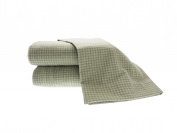 La Rochelle Gingham Sheet Set, Queen, Sage