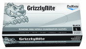 Hospeco ProWorks GrizzlyNite GL-N105FM Exam Grade Nitrile Glove, Powder Free, Disposable, 24cm Length, 4.3 mils Thick, Medium