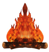 3-D large decorative cardboard campfire centrepiece 36cm tall