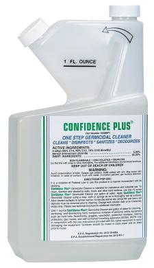 MSA 10009971 Confidence Plus Liquid Germicidal Cleaner, 950ml Volume